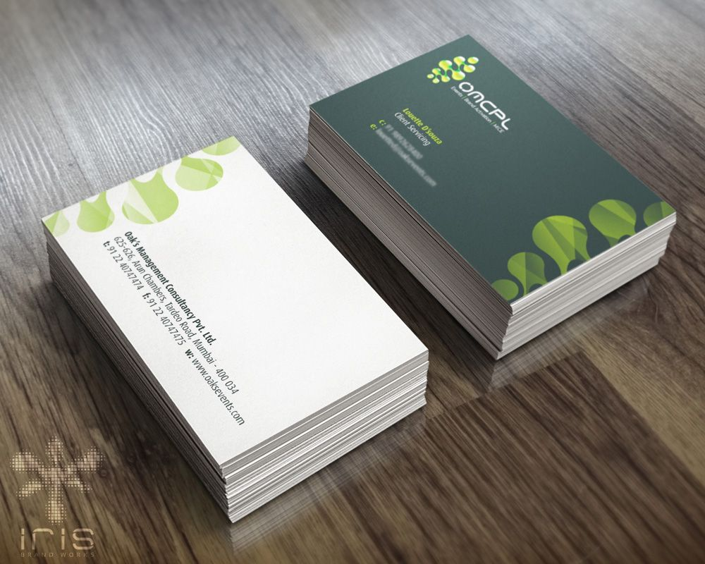 Business Card Design For An Event Management Company