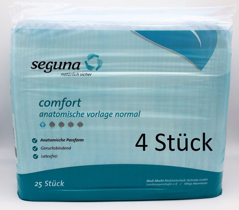4 X 25 100 St Seguna Comfort Anatomische Vorlage Normal Ae20201ip Pzn10226857 Medizintechnik Erste Hilfe Geruch