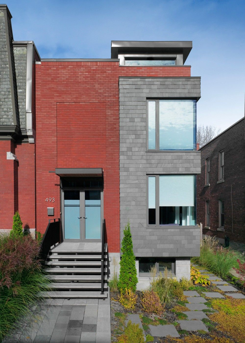 Exterior modern project architecture essay on asymmetry landsdowne house in montreal