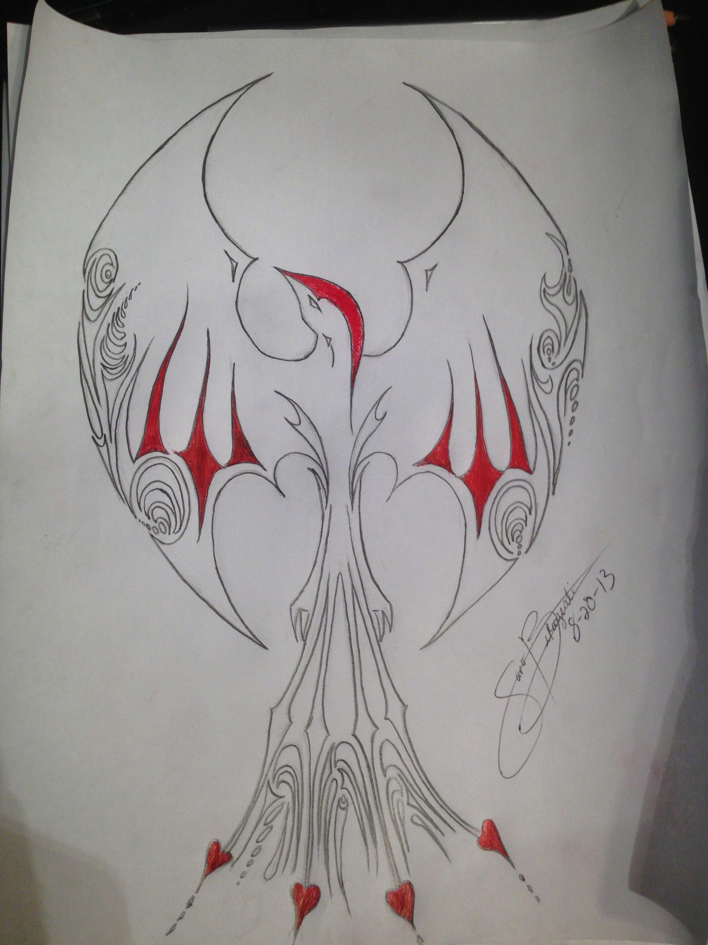 Phoenix tattoo original