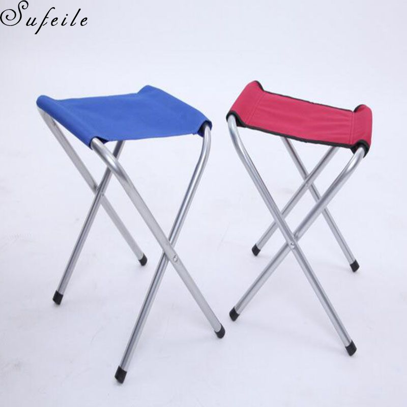 high end folding chairs square table and sufeile outdoor camping portable chair beach aluminum alloy stool stove stall leisure d5