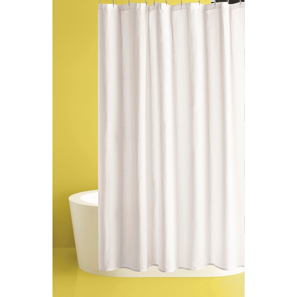 Waffle Weave Shower Curtain White Room Essentials Curtains