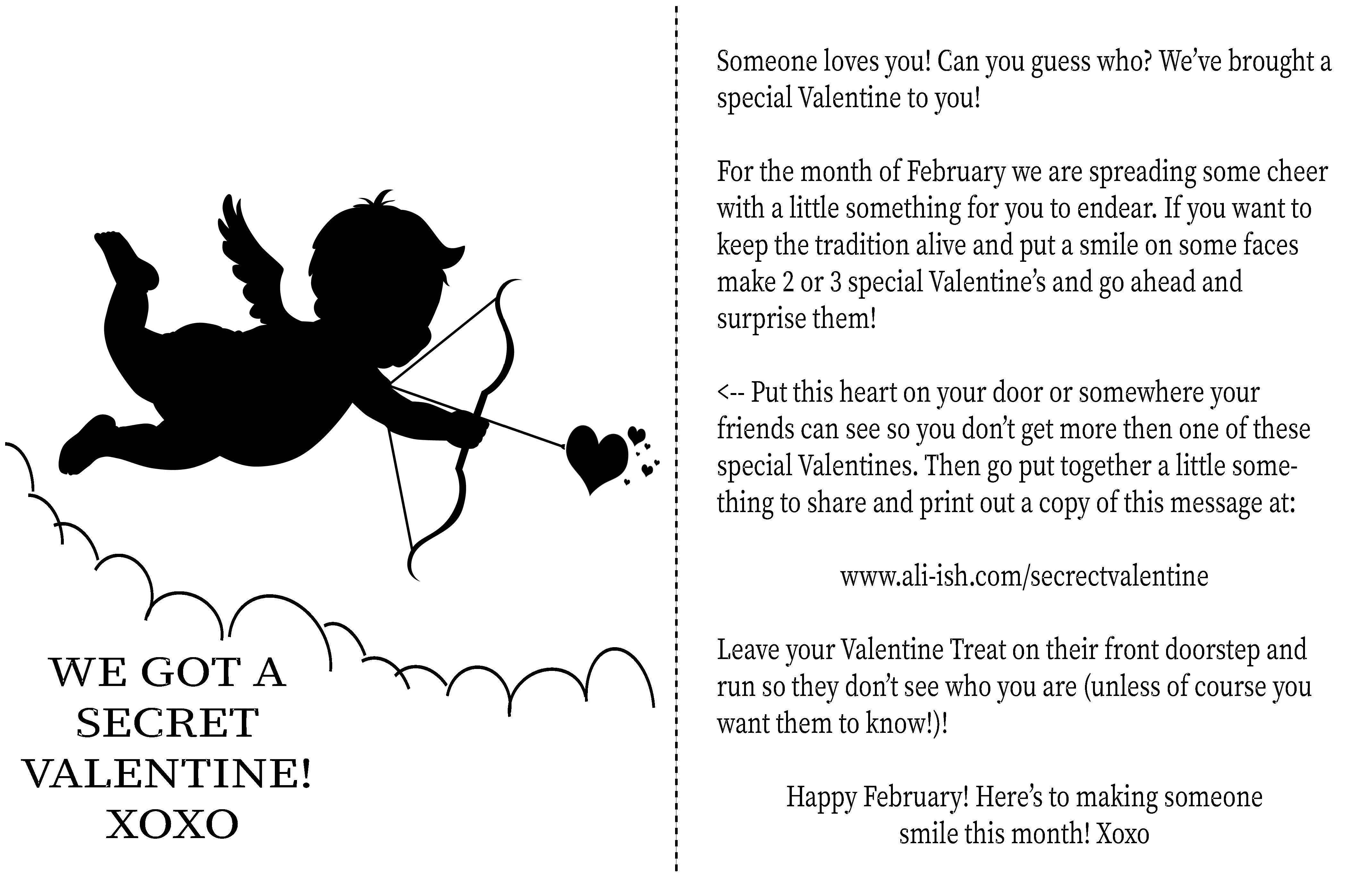Secret Valentine A Valentine S Day For Kids On Secret Valentine
