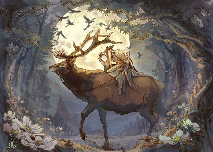 Thranduil & his majestic elk~