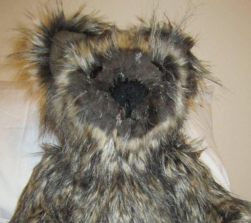 hairy toy brown bear faux fur teddy hairy teddy bear stuffed cuddly