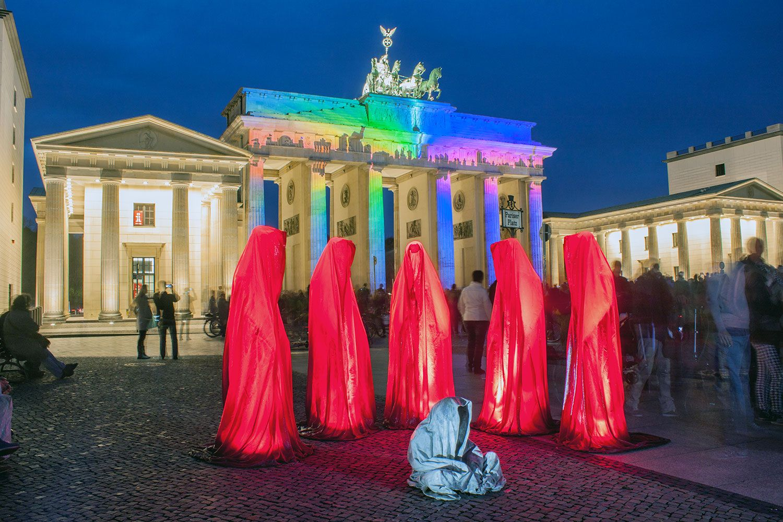Brandenburger Tor Festival Lights Lights Artist Famous Buildings