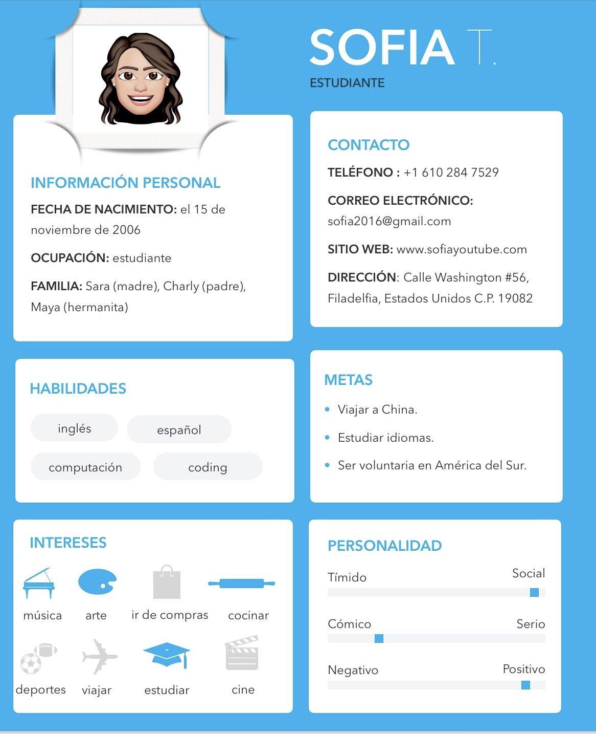 10++ Resume in spanish sample inspirations
