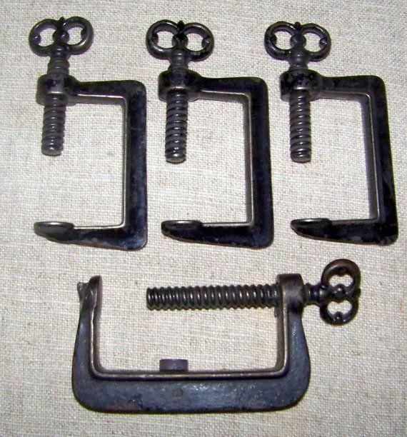 Old Quilting Frames | Antique Quilt Frame C Clamps Key Screw Heads ... : antique quilt frame - Adamdwight.com
