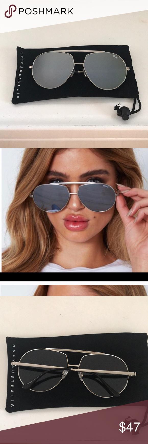 a11d083ef5 Quay Australia Blaze Sunglasses These are silver mirrored Quay Australia  Blaze sunglasses like new condition worn