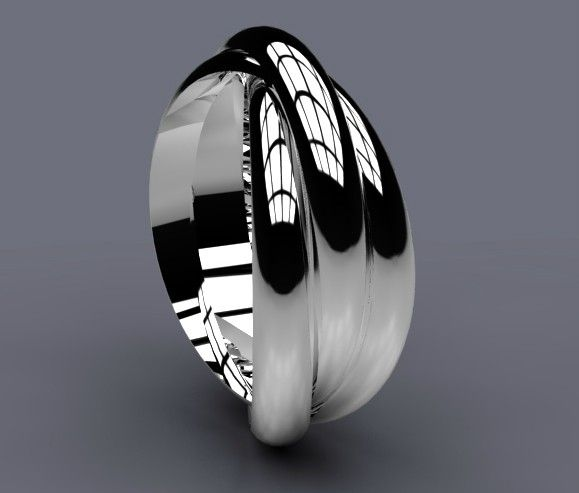 White gold russian wedding rings for men