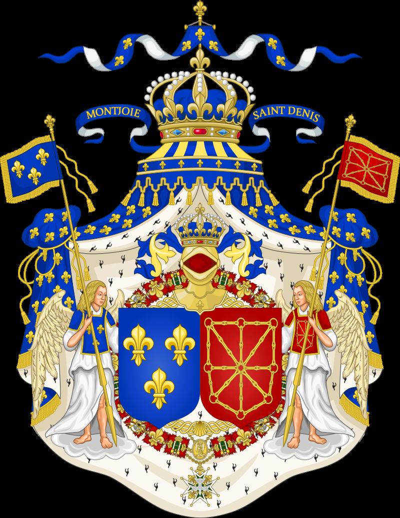 Grand Royal Coat Of Arms Of France Navarreg Heraldrycrests