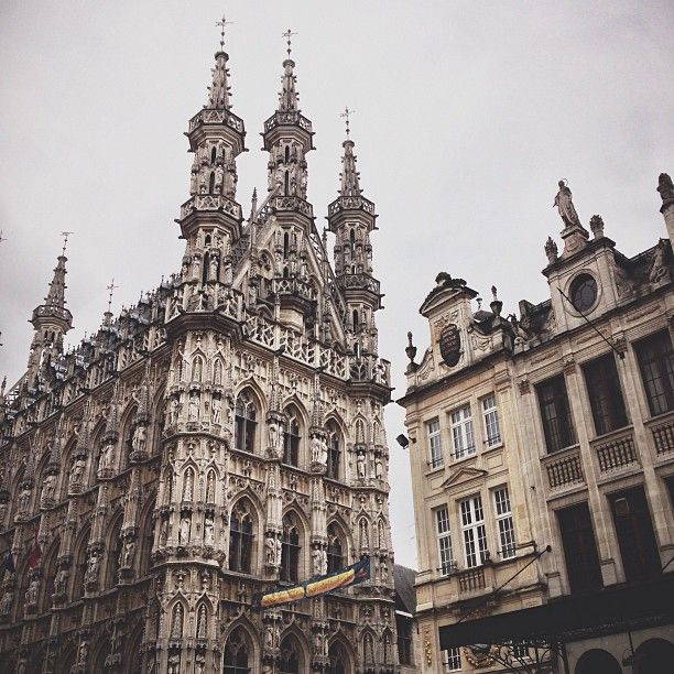 The astonishing town hall of Leuven. [Photo by @herbertschroer]