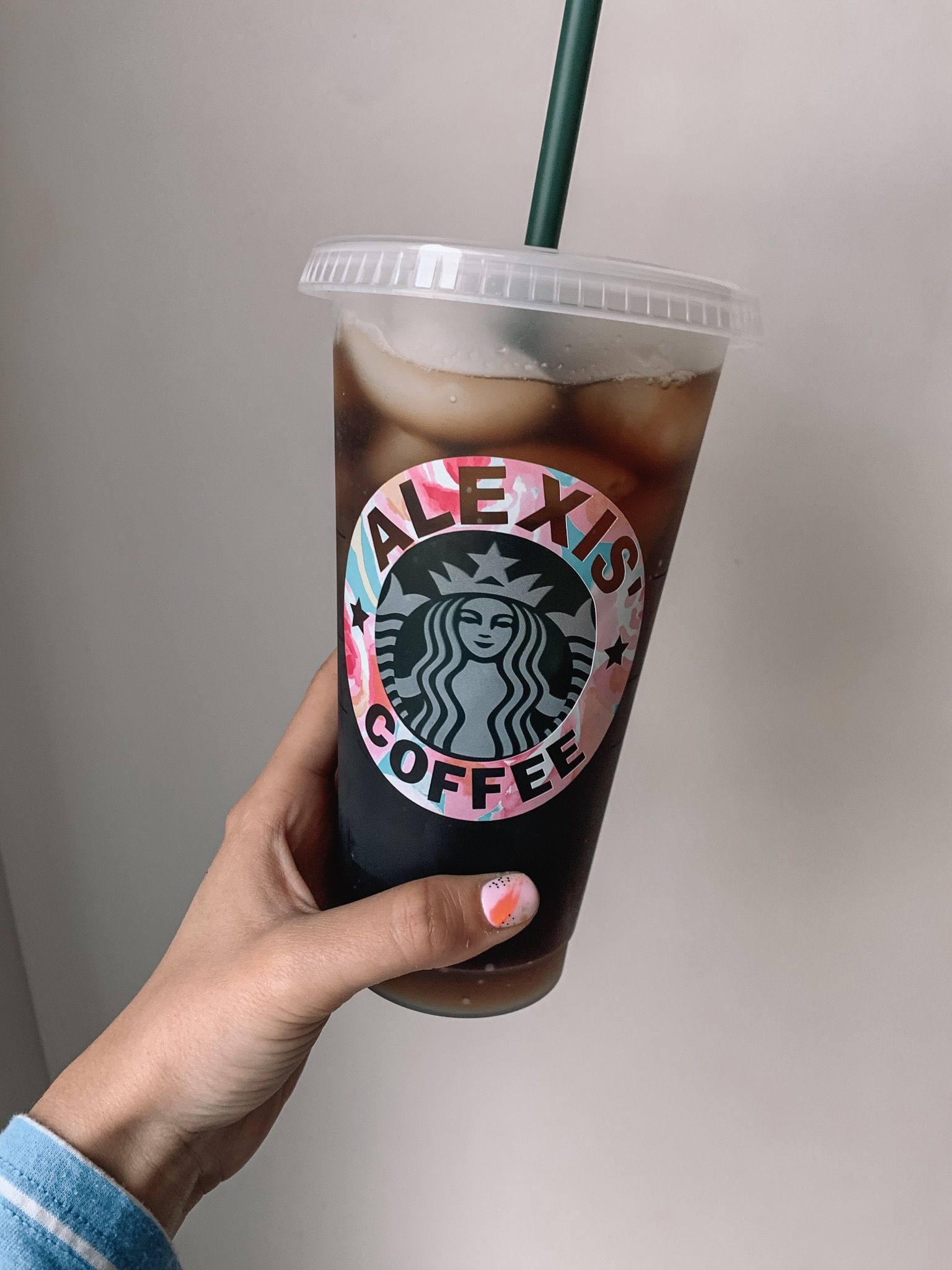 Starbucks, iced coffee, logo, personalized, style, fashion