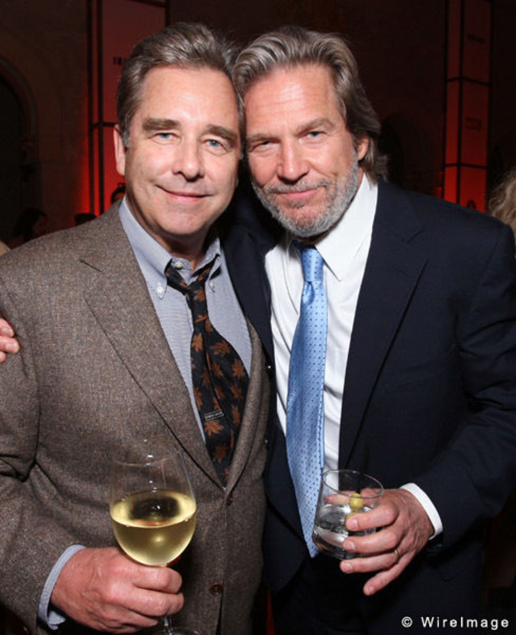 Actors Beau Bridges and Jeff Bridges, sons of actor Lloyd ...