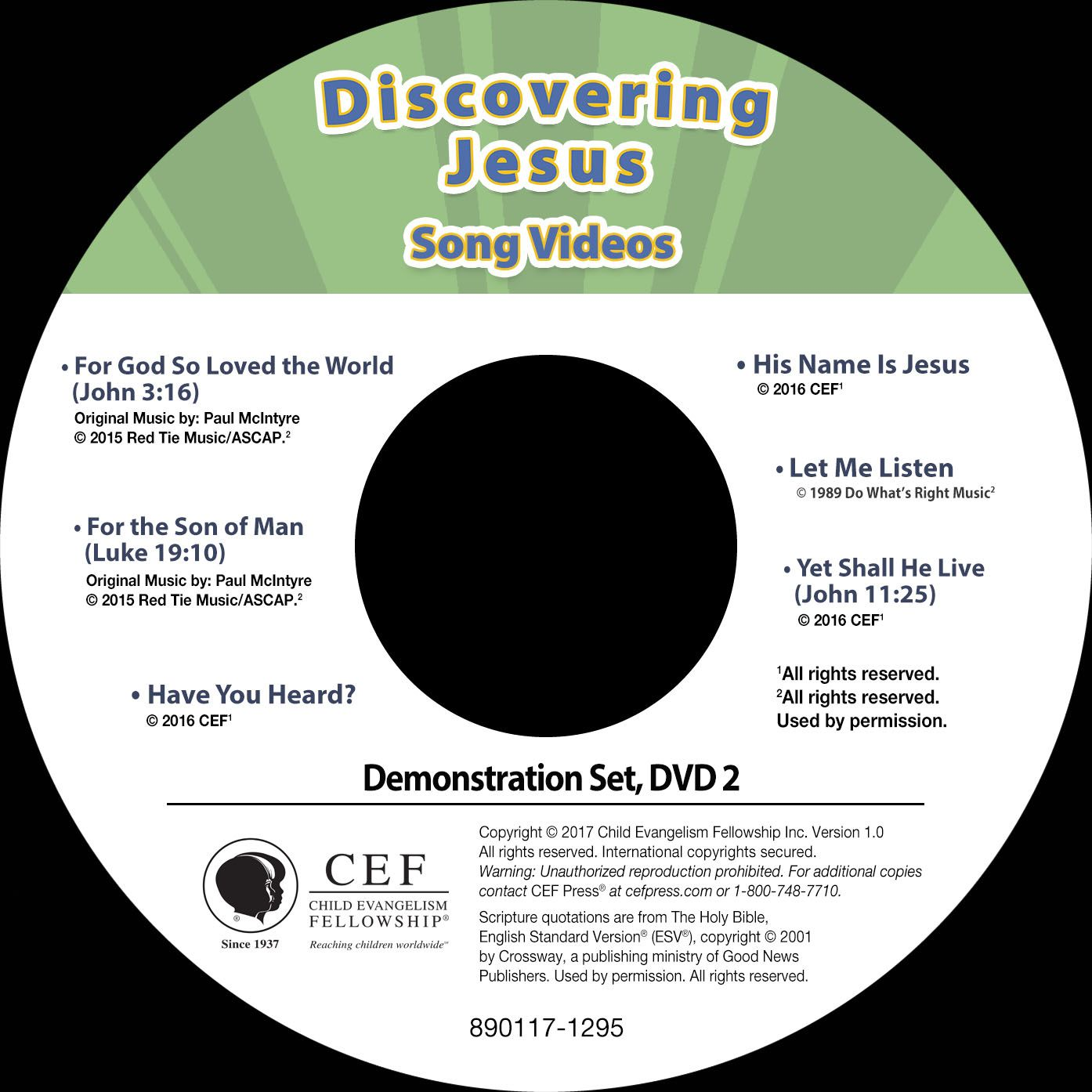 Discovering Jesus Song Video Album MP4 'Download' | VBS Supplies