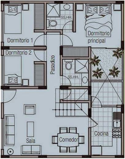 Como crear planos de casas en 120 metros cuadrados de una for Diseno de casa de 120 metros cuadrados