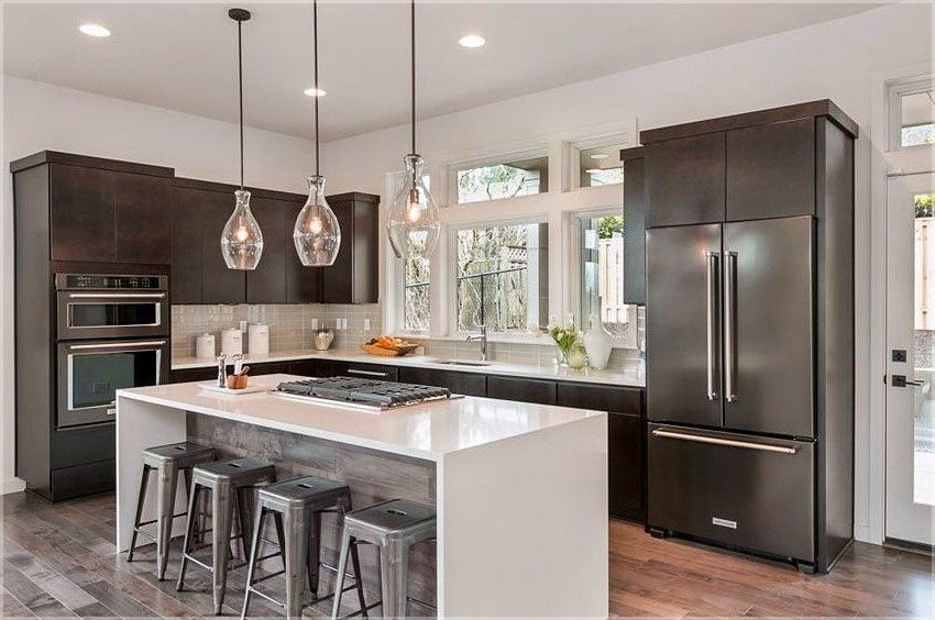 l shaped kitchen with island contemporary white gloss kitchen island ideas kitchenislandideas on kitchen island ideas v shape id=32318