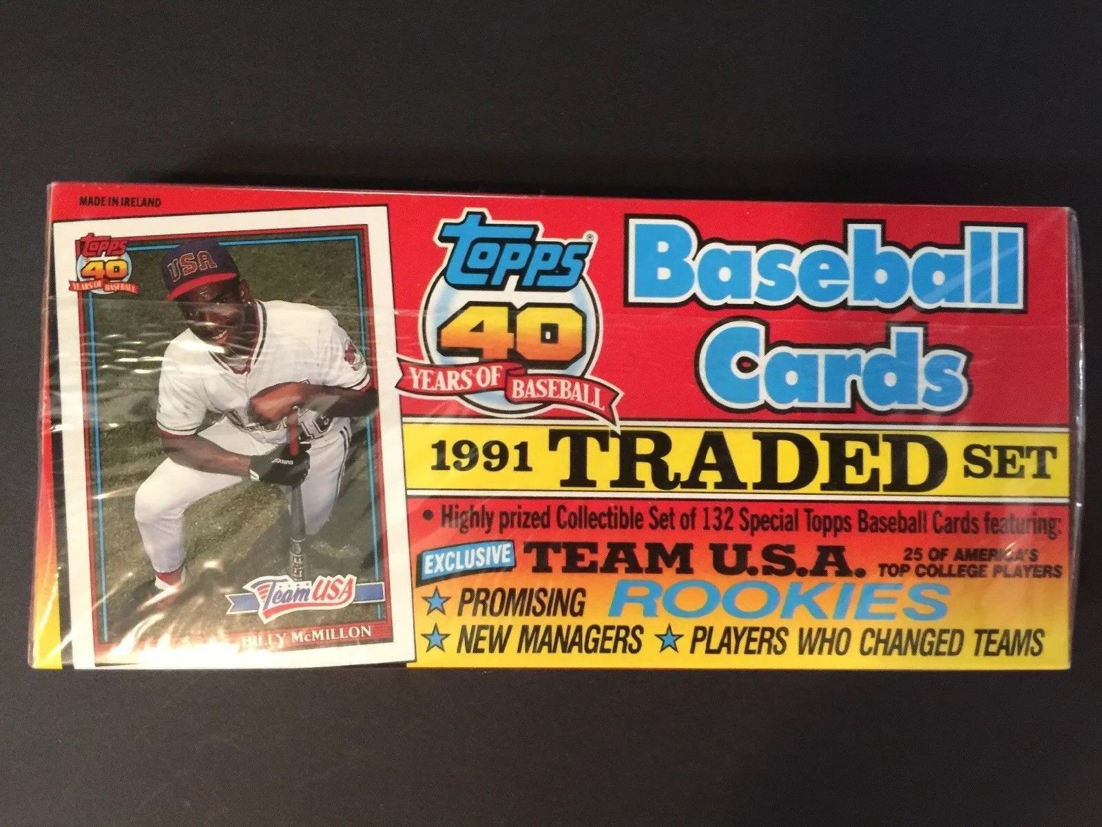 Traded Set 1991 Topps 40 Years Of Baseball Baseball Cards