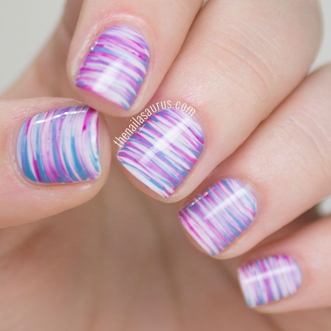 Easter Fan Brush Nail Art | More Fan brush nails and Fan brush ideas