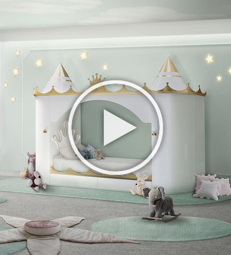 King and Queen castle bed #toys #Dollhouse #lifestyle # ...