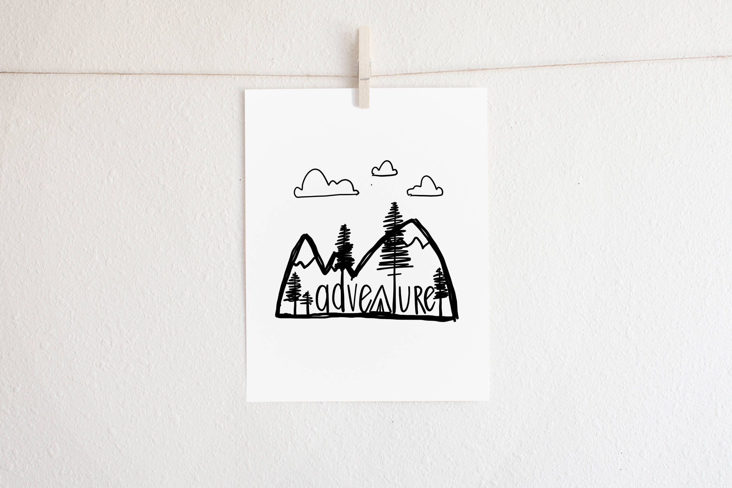 Camping Outdoors Themed - Printable Adventure Inspired Art ...