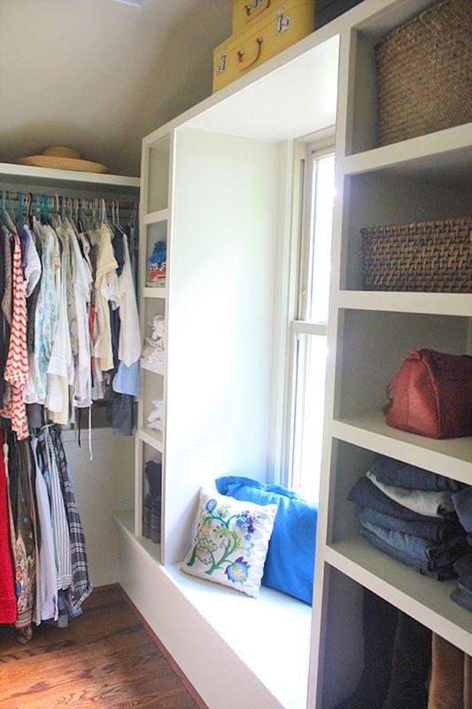 Custom Closet With Window Seat Bedroom Organization Closet Walk In Closet Window Seat Storage
