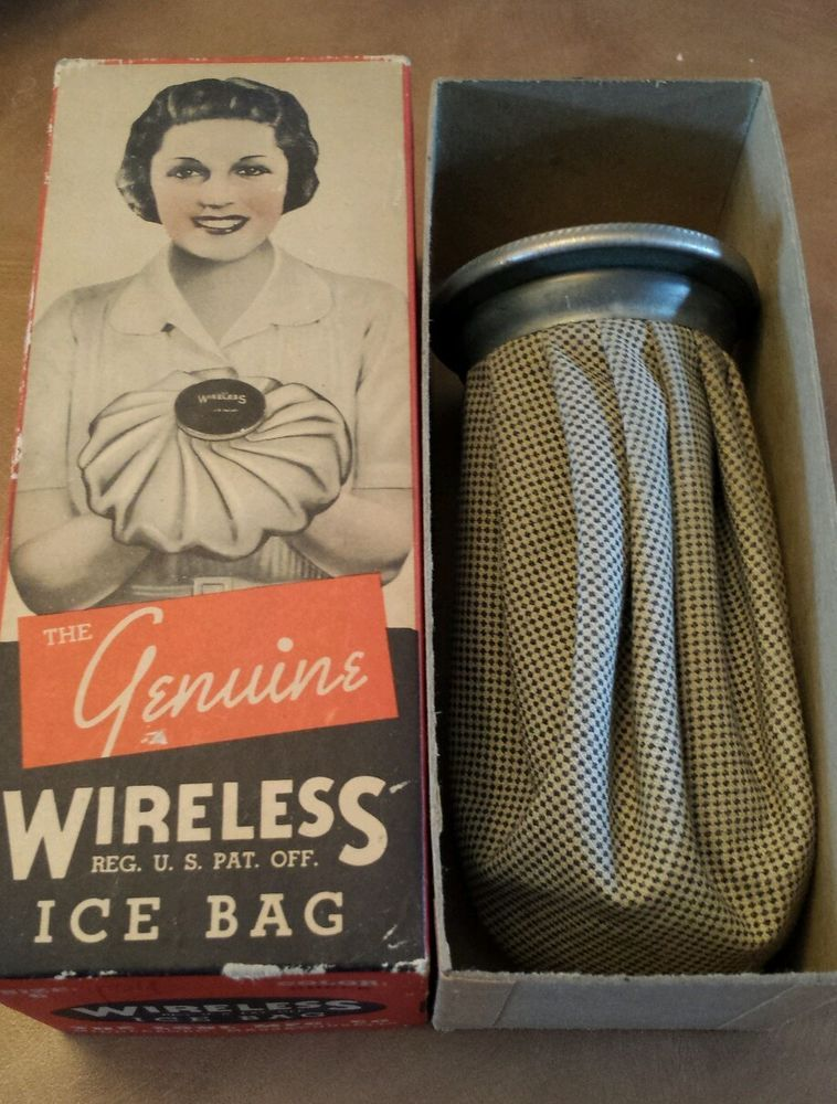 Vintage The Genuine Wireless Ice Bag In Original Box Ice Bag Vintage Original Box