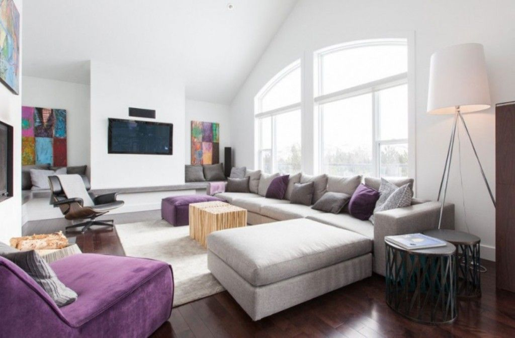 Interior Modern Living Area With Laminate Parquet Flooring And