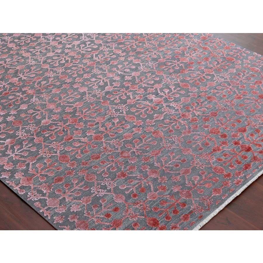 Hand Woven Lorma Mar Blush Pink Handspun Wool And Art Silk Area