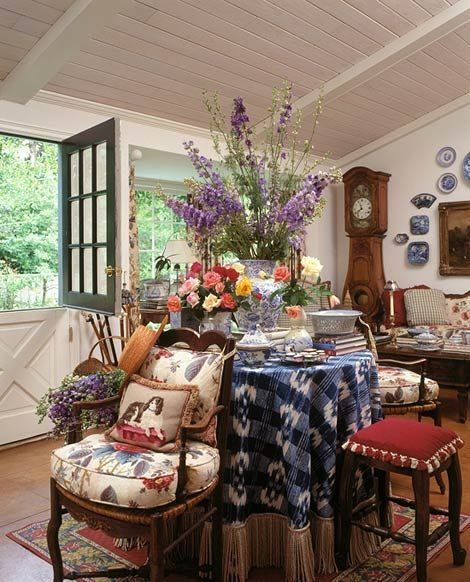 20 Ways To Create A French Country Kitchen: How To Make & Decorate With A Round Skirted Table In 2019