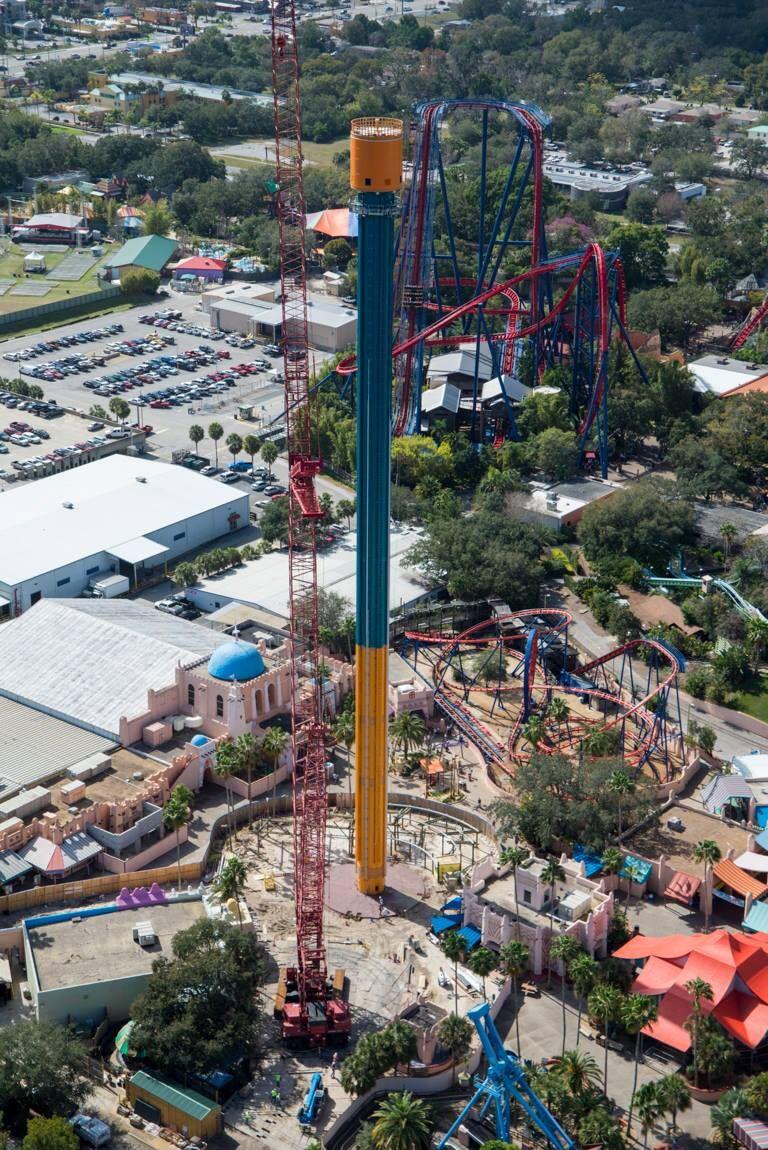 Falcon S Fury Under Construction 335 Feet High And I Rode It Busch Gardens Tampa Bay Busch Gardens Tampa Busch Gardens