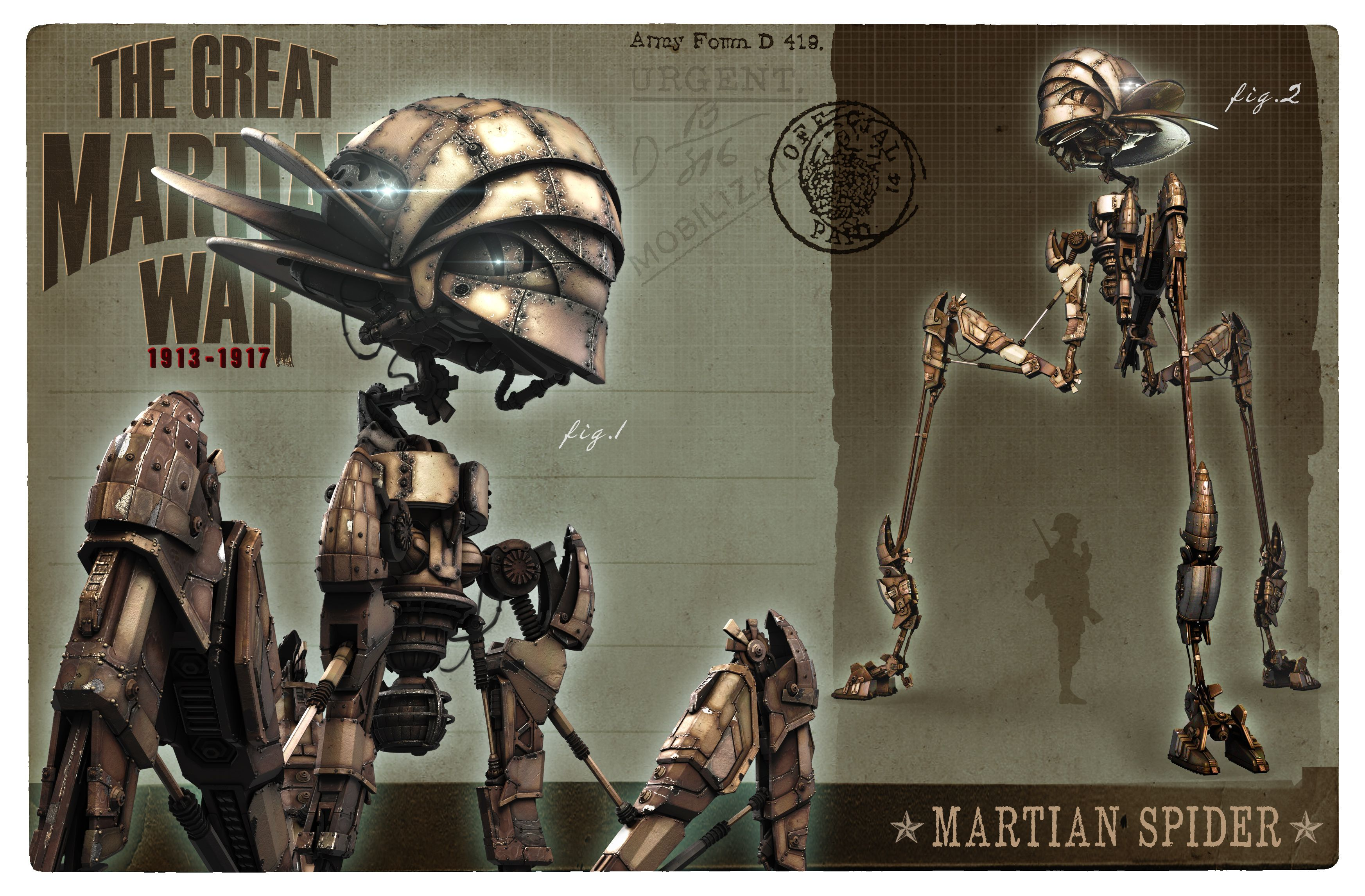 The Great Martian War - Spider Plazmadesign.co.uk | The ...