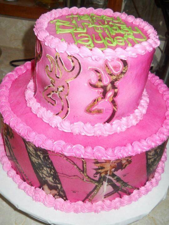 Pink Camo Cakes Party Birthday