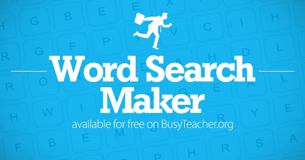 Create Your Own Word Search Puzzles With Our Free Word Search