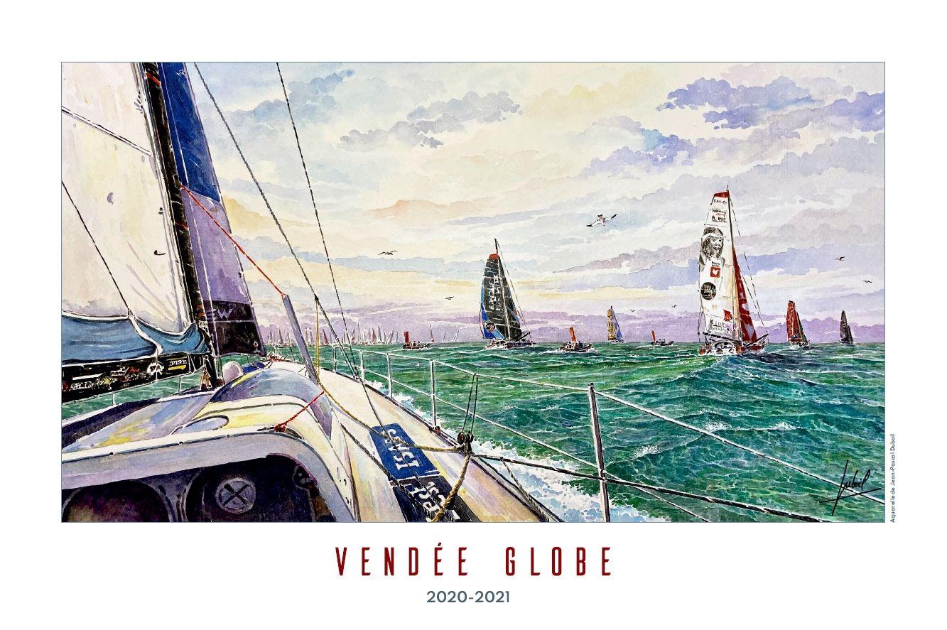 Poster Vendee Globe 2020 Jp Duboil Aquarelle Vendee Voiles Et Voiliers Poster