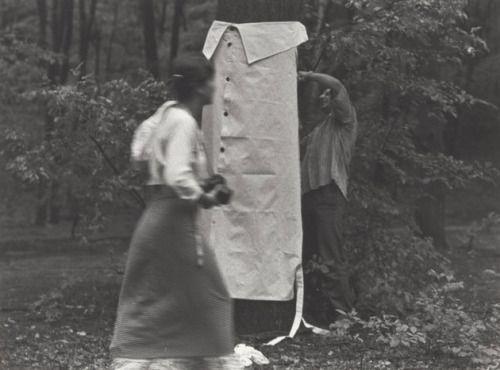 Milan Knížák, Friendship with a Tree, 1980 #eighties