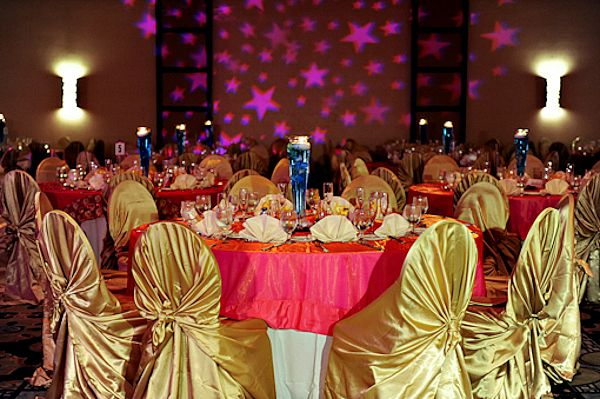 Indian wedding gold chairs reception table ballroom red tablesg indian wedding gold chairs reception table ballroom red junglespirit Image collections