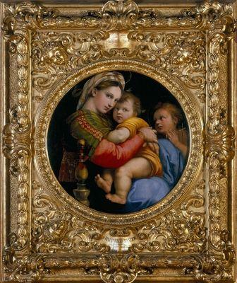 Raphael Et Son Tableau Tondo La Madone A La Chaise 1516 Le Cadre Delimite Une Zone Qui Oriente Le Regard Il Produit Une Agitat Raffaello Dipinti Artisti