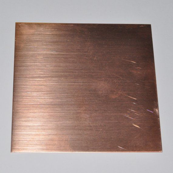20 G Bare Solid Copper Sheet Metal 20 Gauge 6 X By Studioonthehill 5 25 Copper Sheets Sheet Metal Copper