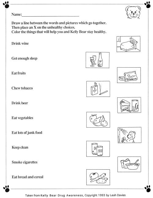 Worksheets Free Health Worksheets collection of health worksheets for kids sharebrowse sharebrowse