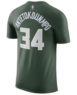 8739f012 Nike Men Giannis Antetokounmpo Milwaukee Bucks Name & Number Player ...