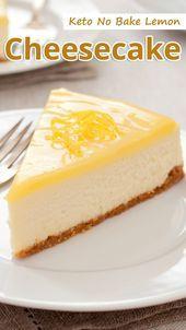 Keto No Bake Lemon Cheesecake