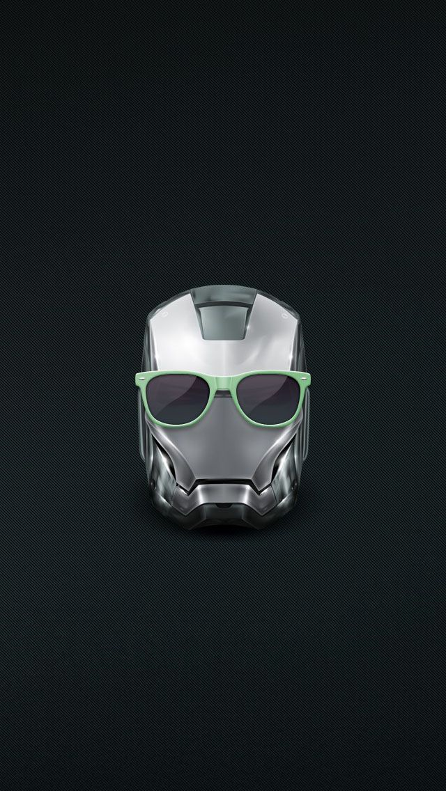 Iron Man Helmet Summer Glasses Iphone 5 Wallpaper Phone