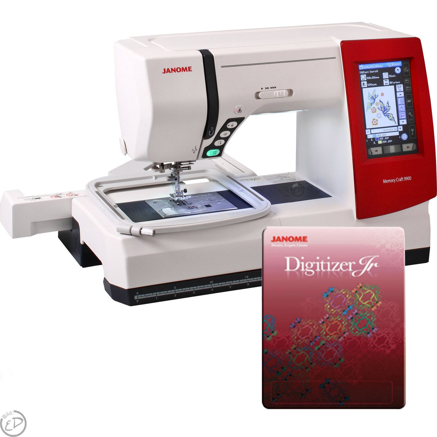 Janome memory craft 9900 - Janome Memory Craft 9900 Incl Digitizer Junior 4 5