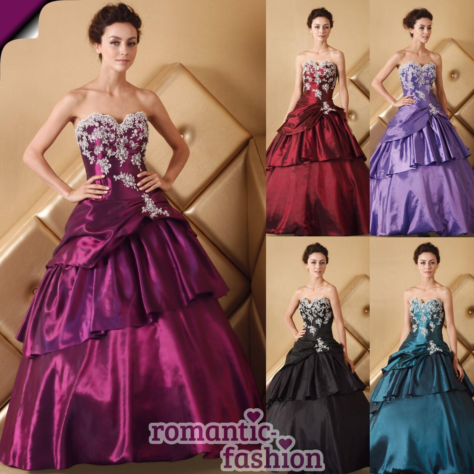 ♥brautkleid ballkleid, abendkleid 5 farben+größe 34 bis 58