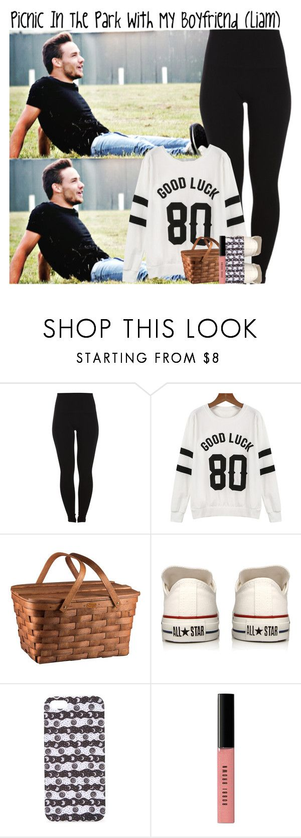 """""""Picnic In The Park Wth My Boyfriend (Liam)"""" by luvonedirection4ever ❤ liked on Polyvore featuring Pieces, Picnic Time, Converse, With Love From CA and Bobbi Brown Cosmetics"""