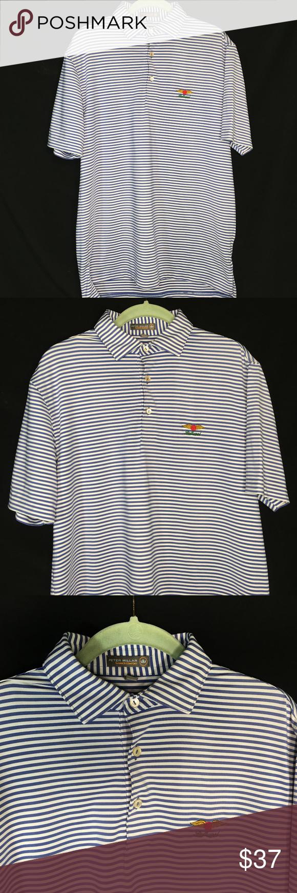 Peter Millar Polo Shirt Baltusrol Golf Club Logo Peter