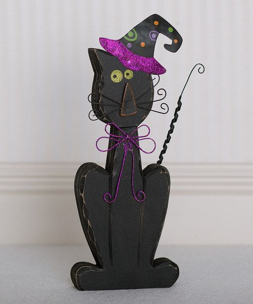 Take a look at this Halloween Cat 14\u0027\u0027 Decoration on zulily today - halloween decorations black cat