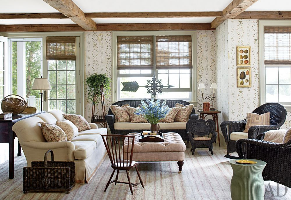 Traditional Living Room By Nantucket House Antiques And Interior