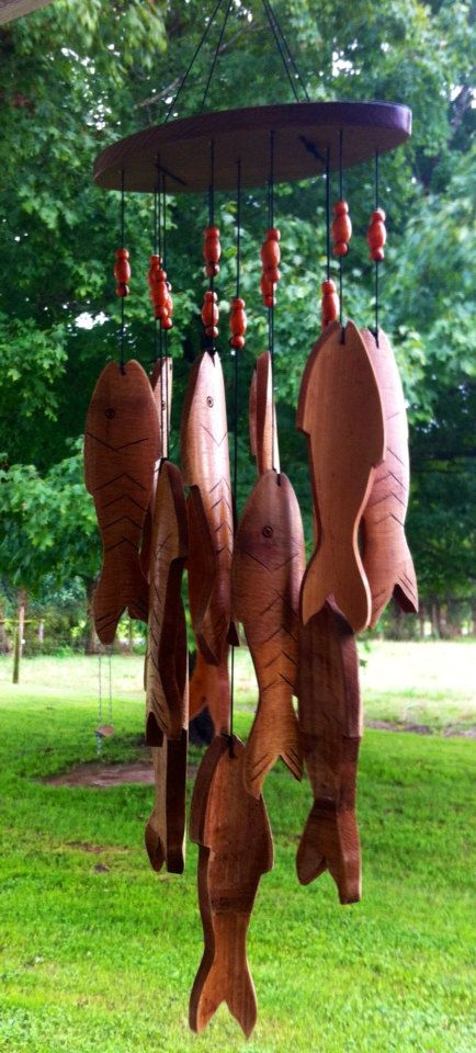 Carillon De Bois Poissons Wind Chimes Wind Chimes Homemade Wooden Wind Chimes
